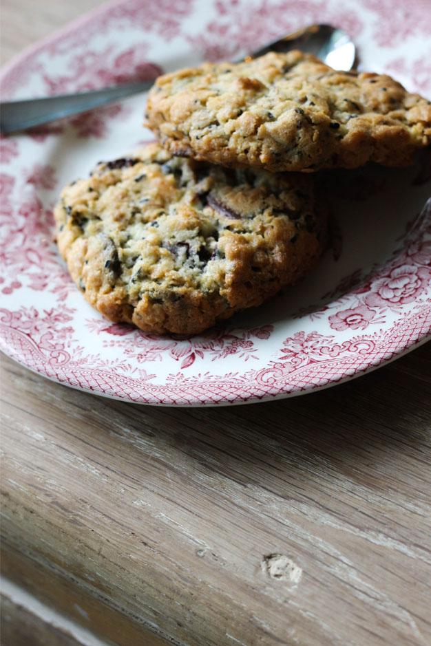 cookies avoine mélange de graines et chocolat noir